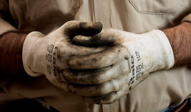 Hands wearing gloves